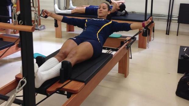 vôlei tandara fisioterapia (Foto: Divulgação)