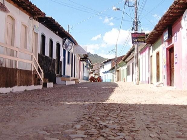 Ruas do Centro histórico estavam vazias (Foto: Reprodução / Inter TV)