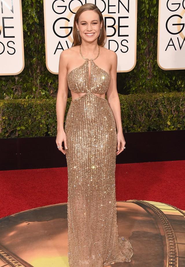 2015 - melhor atriz de drama para Brie Larson, que vestiu Calvin Klein (Foto: Getty Images)
