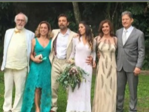 Thomáz se casou com Andrea Brito (Foto: Globo)