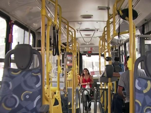 Ônibus São Paulo ar condicionado (Foto: TV Globo/Reprodução)