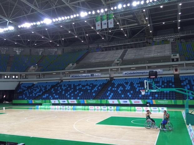 Arena Carioca 1 foi inaugurada nesta terça-feira, no Parque Olímpico (Foto: Káthia Mello/G1)