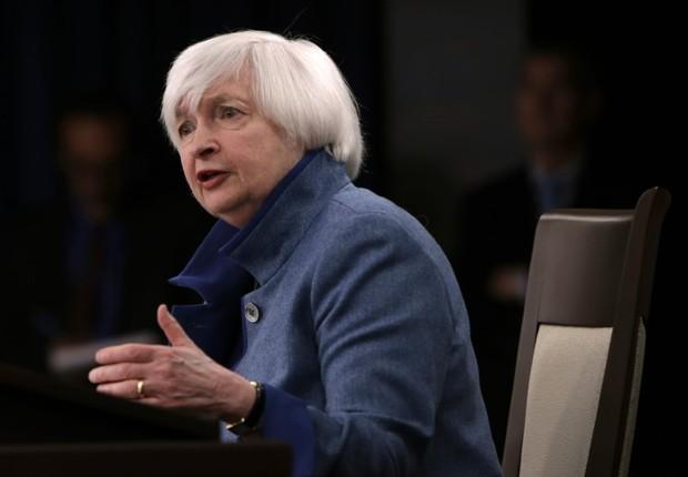 A presidente do Fed, Janet Yellen (Foto: Gary Cameron/Reuters)