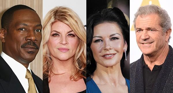 Eddie Murphy, Kirstie Alley, Catherine Zeta-Jones, Mel Gibson (Foto: Getty Images)