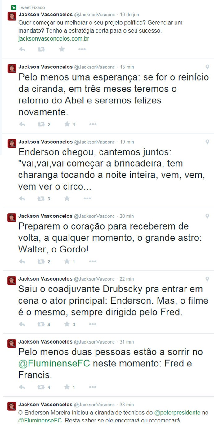 MONTAGEM - Post twitter Jackson Vasconcellos Fluminense Ederson Moreira