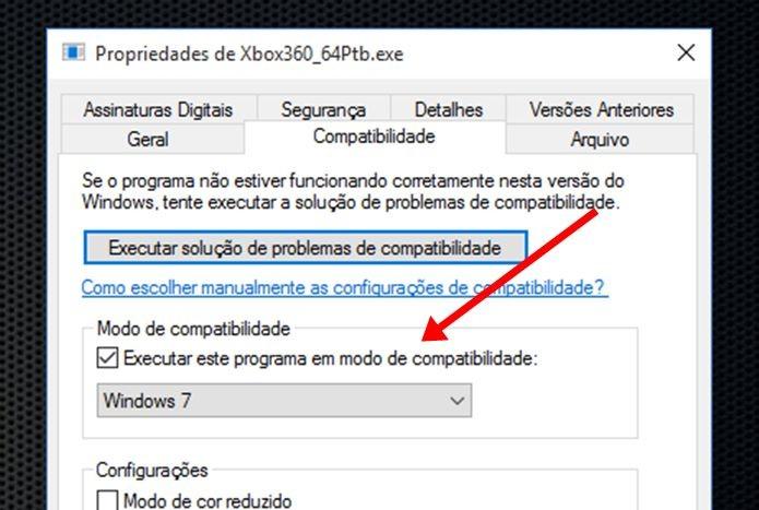 Ao alterar a compatibilidade, aplicativo instala os drives do controle do Xbox 360 sem problemas  (Foto: Reprodução / Dario Coutinho)