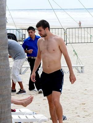 pique espanha praia (Foto: André Durão / Globoesporte.com)