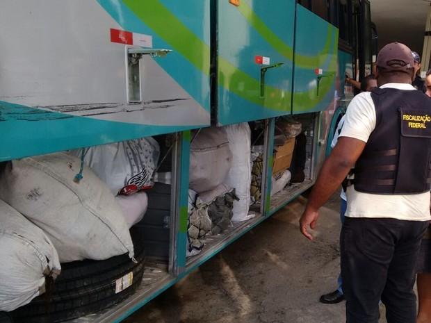 Mercadorias apreendidas operação Sulanca Segura (Foto: Divulgação/ Polícia Rodoviária Federal)