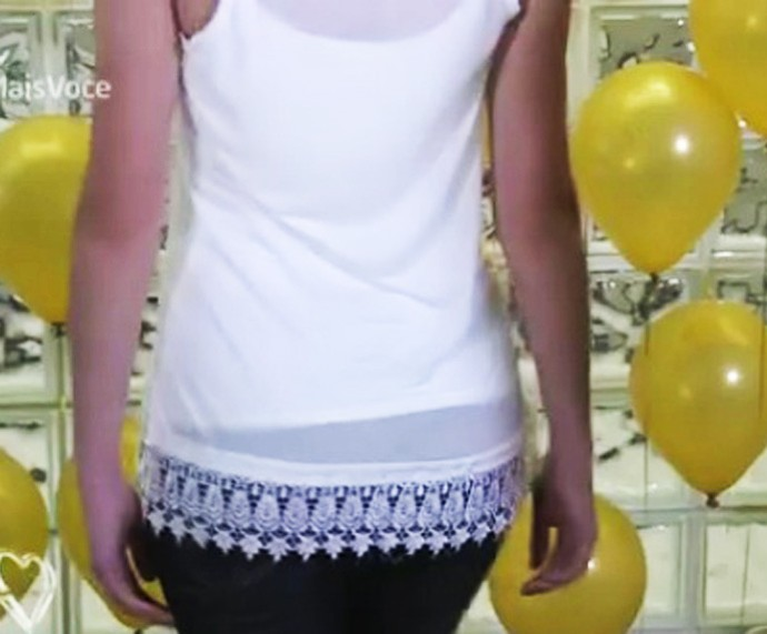 Camisa com renda (Foto: TV Globo)