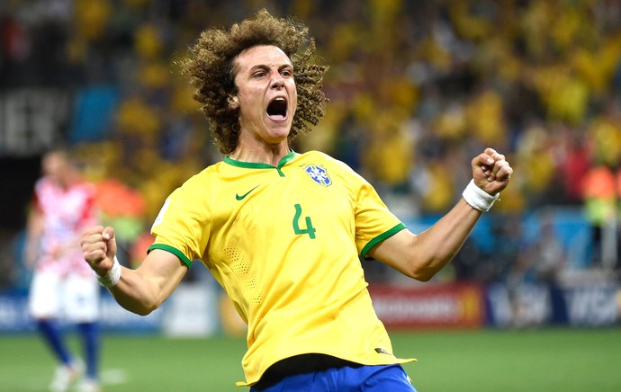 David  Luiz Brasil e Croácia (Foto: Agência AFP )