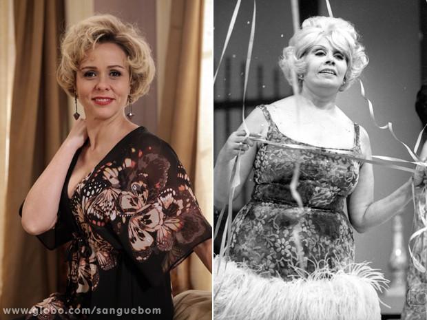 Giulia Gam revela semelhanças com Dercy Gonçalves (Foto: Sangue Bom/TV Globo)