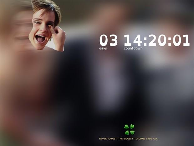 Site Emma You Are Next faz ameaça à atriz Emma Watson, de 'Harry Potter' (Foto: Reprodução/emmayouarenext.com)