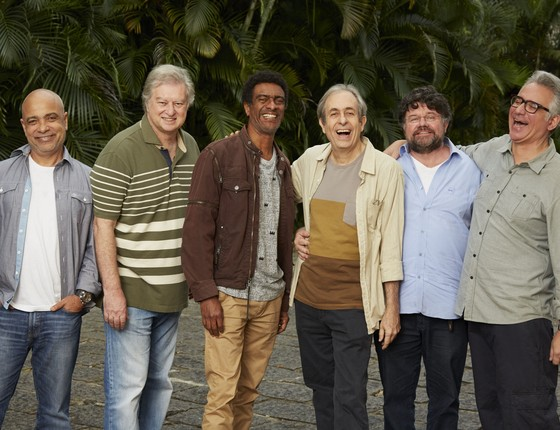 Cláudio Manoel, Beto Silva, Hélio de La Peña, Reinaldo Figueiredo, Marcelo Madureira e Hubert Aranha  (Foto: Guto Costa)