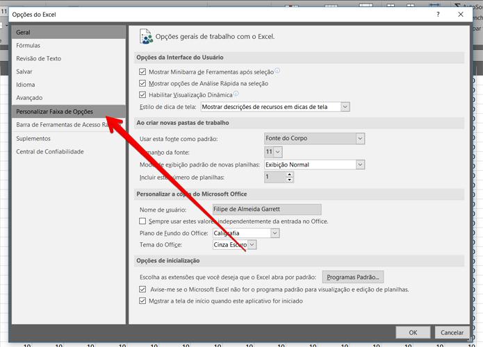 Para ter acesso ao VBA, é preciso ativar o menu de Desenvolvedor (Foto: Reprodução/Filipe Garrett)