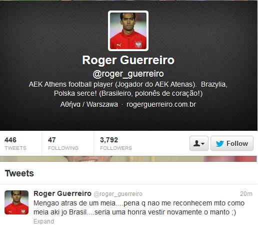 Twitter Roger (Foto: Reprodução)