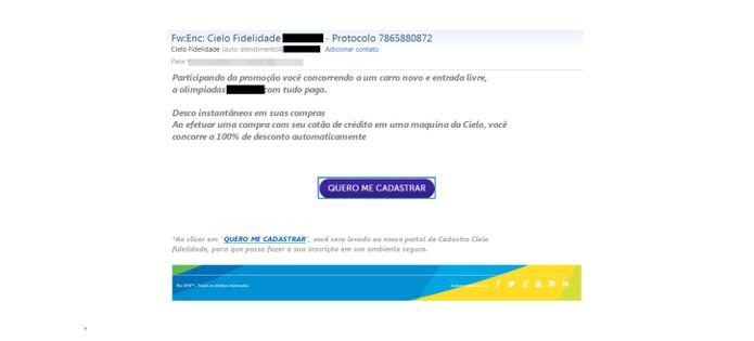 Site falso pede credenciais de cartão de crédito para clonar (Foto: Divulgação/Kaspersky Lab)