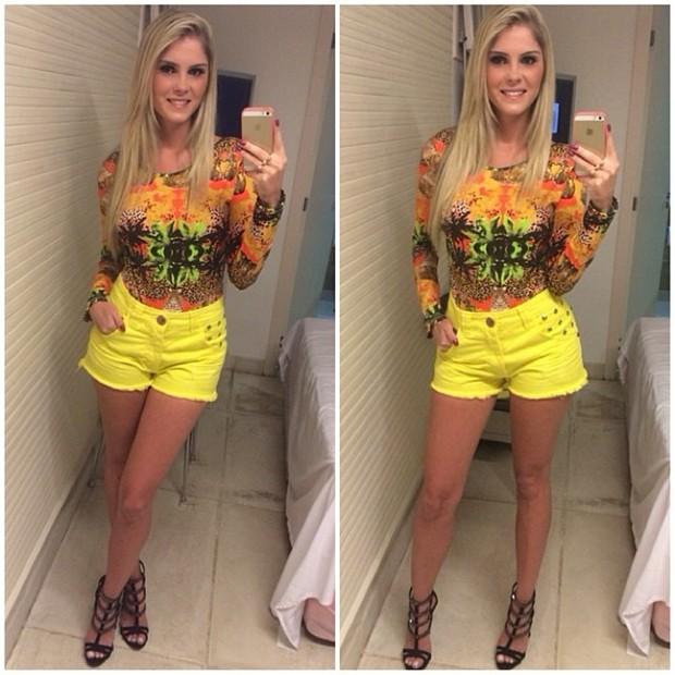 Bárbara Evans posta look do dia (Foto: Reprodução/ Instagram)