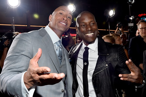 O ator Dwayne The Rock Johnson e o rapper e ator Tyrese Gibson (Foto: Getty Images)