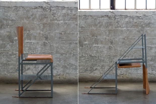 A cadeira que se transforma em escada (Foto: Divulgação)