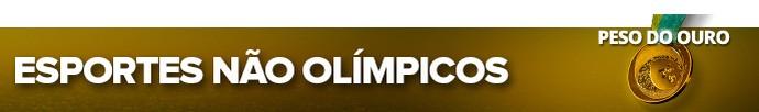 pan modalidades esportes não olímpicos (Foto: Editoria de Arte)