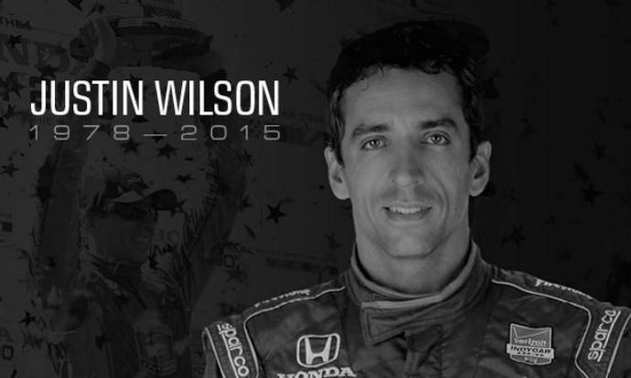 Fórmula Indy prestou homenagem ao piloto Justin Wilson (Foto: Reprodução/Fórmula Indy)