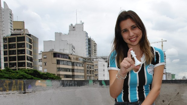 Thauane Medeiros, campeã de xadrez e candida à Musa do Brasileirão (Foto: João Gabriel Rodrigues)