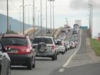 Manhã de 1º de janeiro tem registro de filas na BR-101 em Santa Catarina