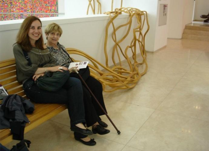 Em 2014, Teresa Freitas e a mãe passearam pela Argentina e aproveitaram para conhecer o Malba, o Museu de Arte Latino-Americana de Buenos Aires (Foto: Teresa Freitas/ Arquivo Pessoal)