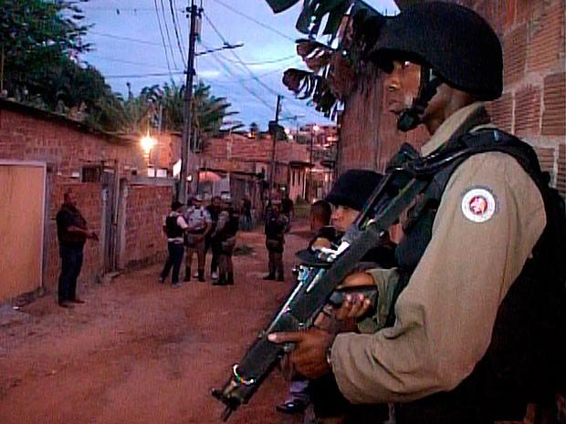 Polícia ocupa Bairro da Paz para implantação de Base Comunitária (Foto: Reprodução/ Imagens da PM)