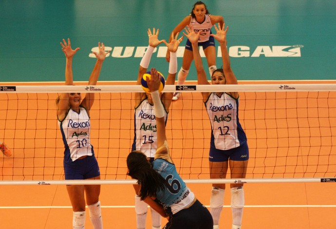 Rio de Janeiro x São Caetano superliga feminina vôlei (Foto: Alexandre Arruda/CBV)