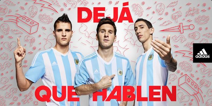 Camisa Argentina Messi Lamela Di María