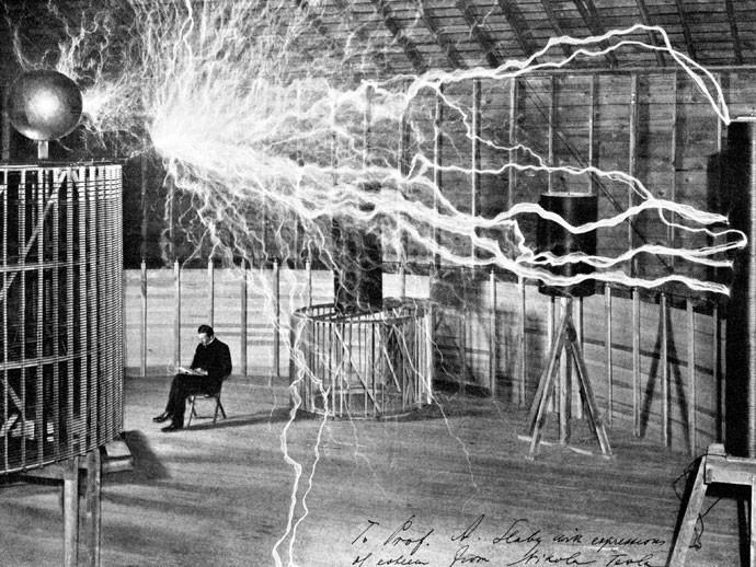 """ef7ebdb8fce ARTISTA  A fama de """"cientista mágico"""" de Tesla era alimentada por  performances em"""
