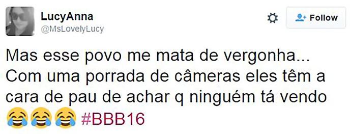 post maça bbb16 (Foto: Reprodução Internet)
