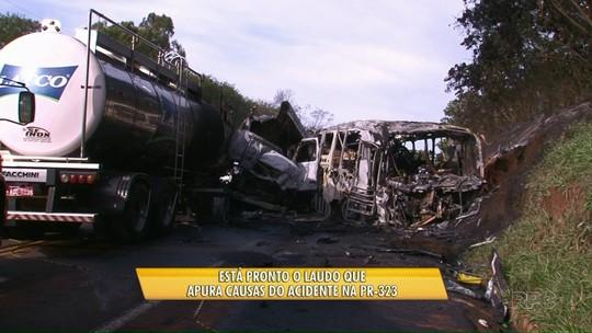 Laudo sobre causas do acidente na PR-323 será divulgado nesta quinta