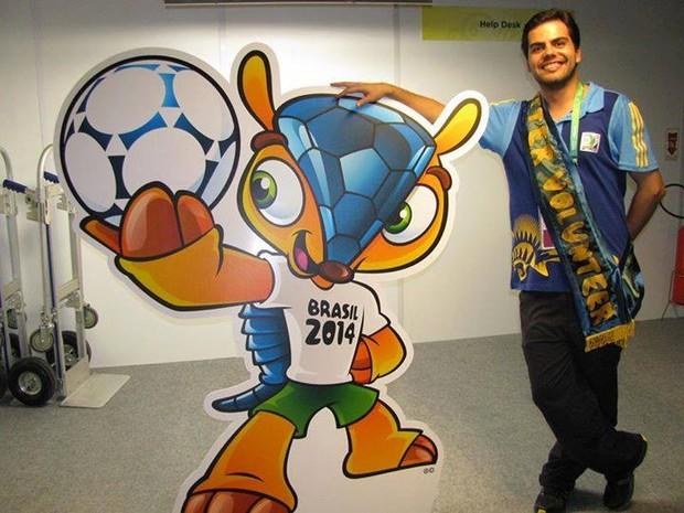 Pedro Henrique Voluntário Copa do Mundo (Foto: Pedro Henrique Landim/Arquivo Pessoal)