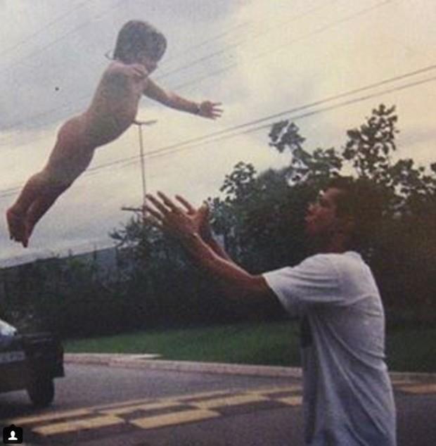 Petra Mattar e o pai, Mauricio Mattar (Foto: Reprodução)