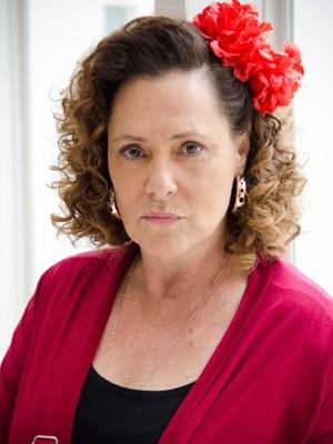 Elizabeth Savalla posa na pele de Márcia (Foto: Raphael Dias/TV Globo)