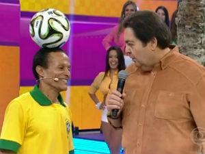 Valdir participou do programa de Fausto Silva (Foto: Reprodução/ Rede Globo)
