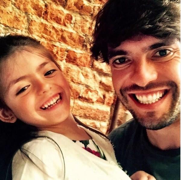 Kaká e a filha Isabella (Foto: Instagram)
