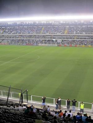 Vila Belmiro Santos x Atlético-MG (Foto: Marcelo Hazan / Globoesporte.com)