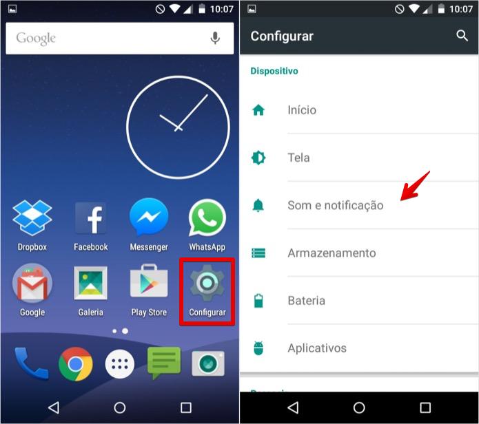 Acesse as configurações de som do Android (Foto: Reprodução/Helito Bijora)