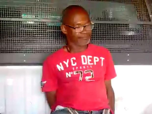 Gilson Jesus Moura, de 49 anos, foi preso na manhã desta sexta-feira (Foto: Divulgação / PM)