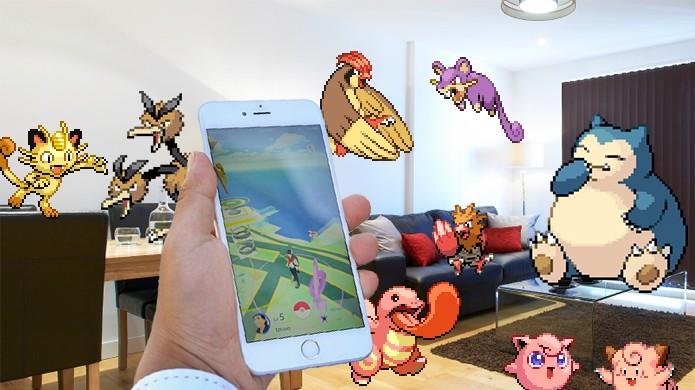 Pokémons normais podem ser encontrados praticamente em qualquer lugar de Pokémon Go, até na sua casa (Foto: Reprodução/Rafael Monteiro)