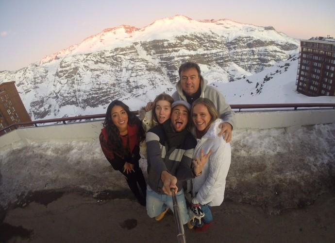 A família Licks reunida no Valle Nevado (Foto: Arquivo Pessoal)