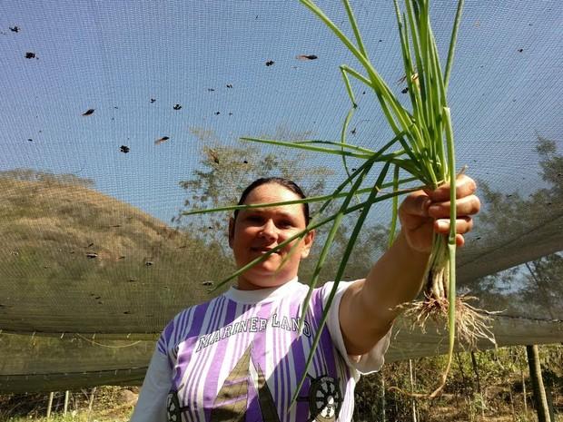 Produtora Luciana Andrade fez a transição para a produção orgânica  (Foto: Divulgação/ Rio Rural)