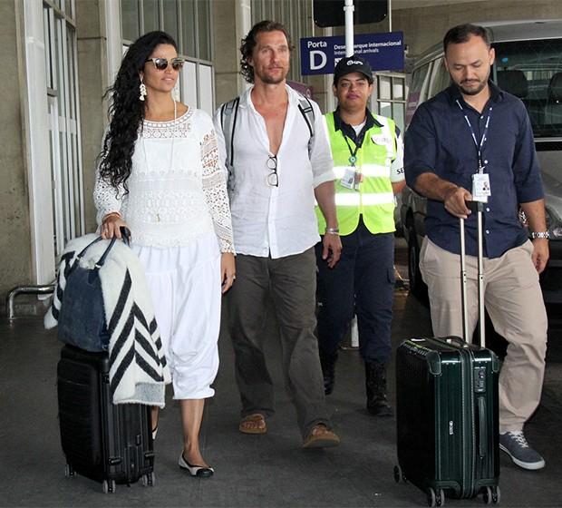 Matthew McConaughey e Camila Alves (Foto: Wallace Barbosa/AgNews)