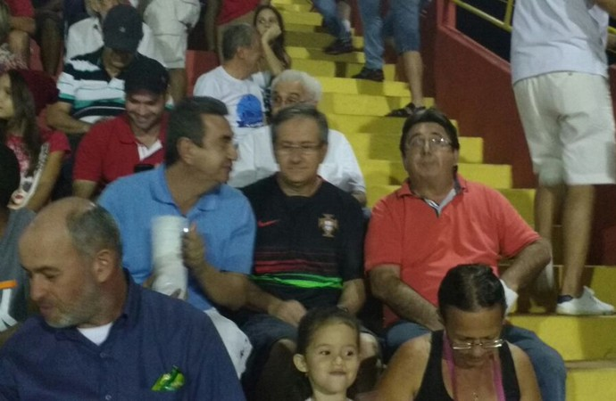 Gerson Engracia Garcia, Virgílio Pires Martins e Osvaldo Festucci (Foto: Vinicius Brino/CBN Ribeirão)