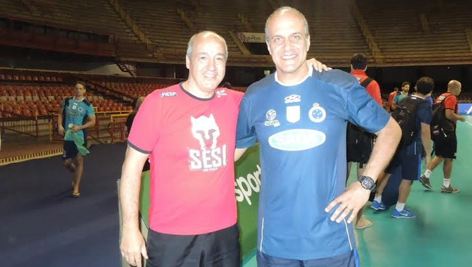 Marcos Pacheco e Marcelo Mendez Sesi-SP Cruzeiro (Foto: Danielle Rocha)
