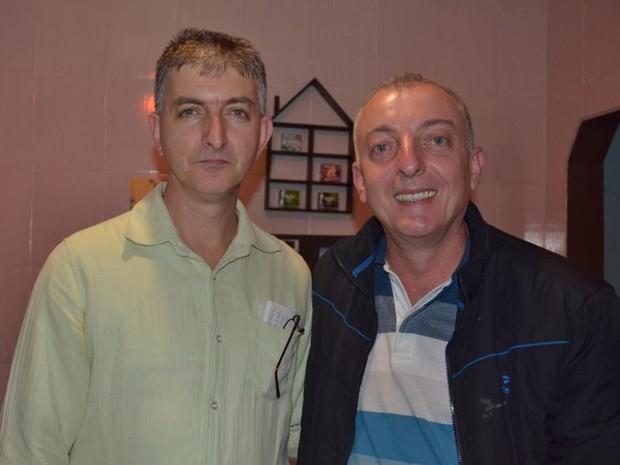 Jorge e Michel Facury, ufólogos e moradores de Sorocaba (Foto: Juliana Ferraz/Assessoria de Imprensa)