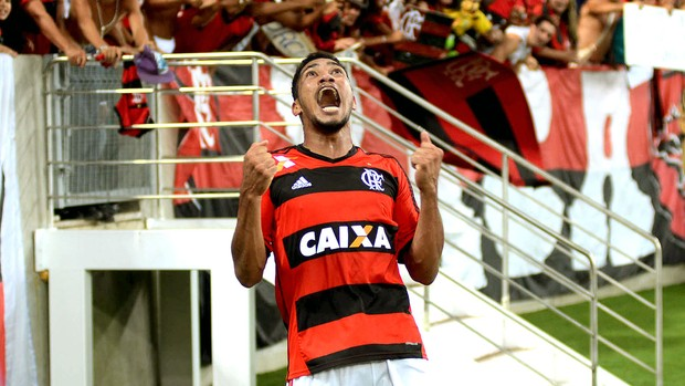 Hernane gol Flamengo jogo Botafogo Copa do Brasil (Foto: André Durão / Globoesporte.com)